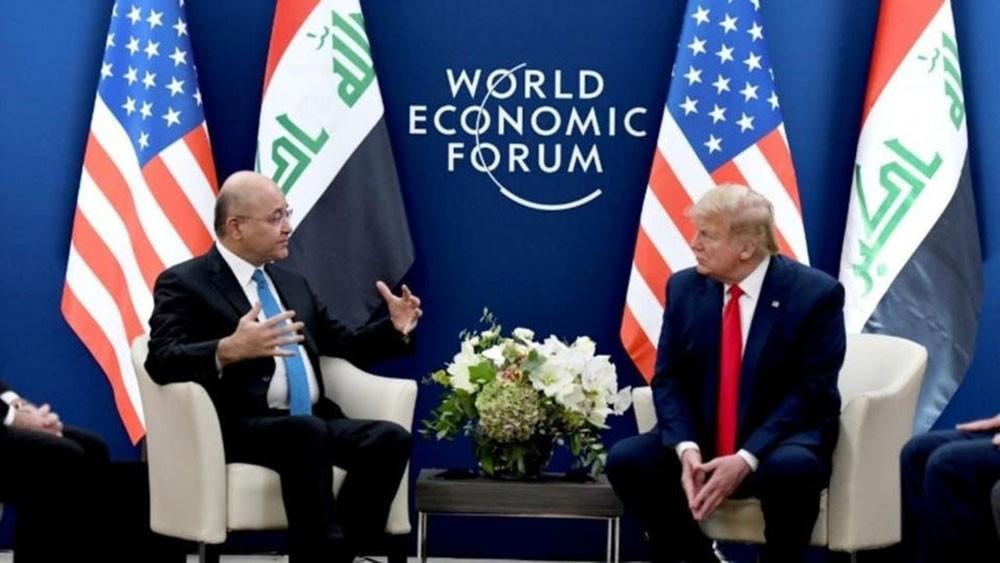 برهم صالح يبحث مع ترمب الوجود الأميركي وتخفيضه