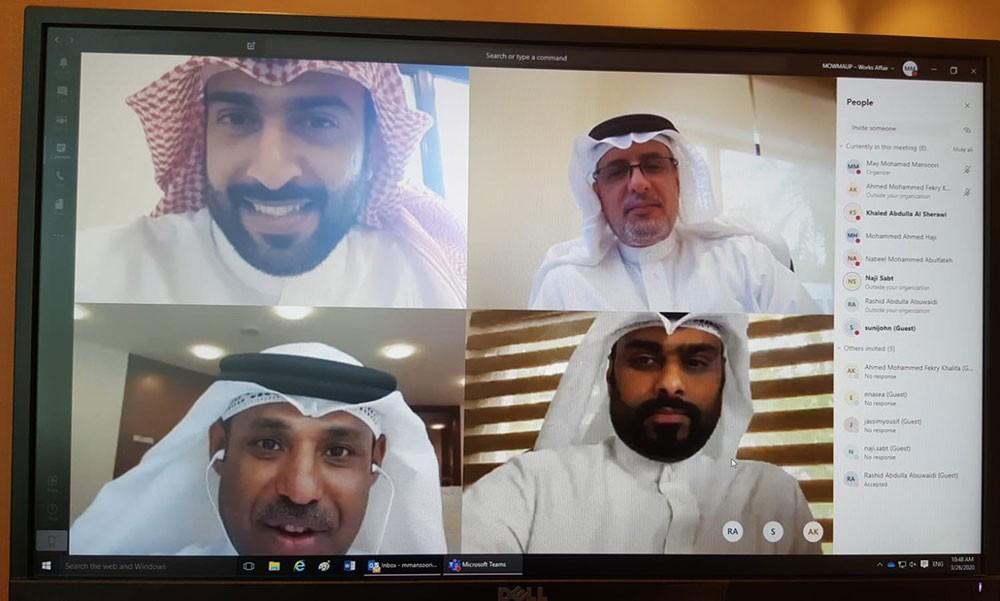 ابوالفتح يترأس اجتماعا عن بُعد لمتابعة مشروع تحديد الرمال البحرية