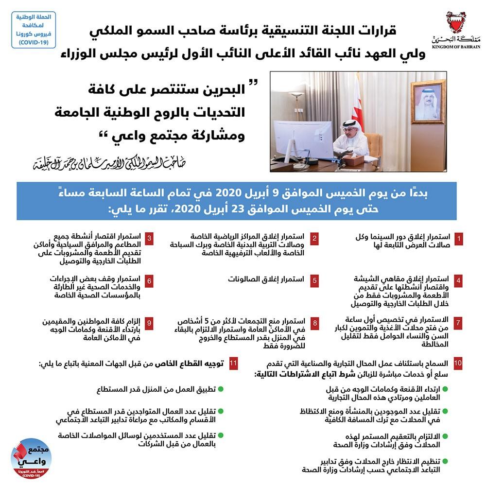 سمو ولي العهد: البحرين ستنتصر على كافة التحديات بالروح الوطنية الجامعة ومشاركة مجتمع واعي