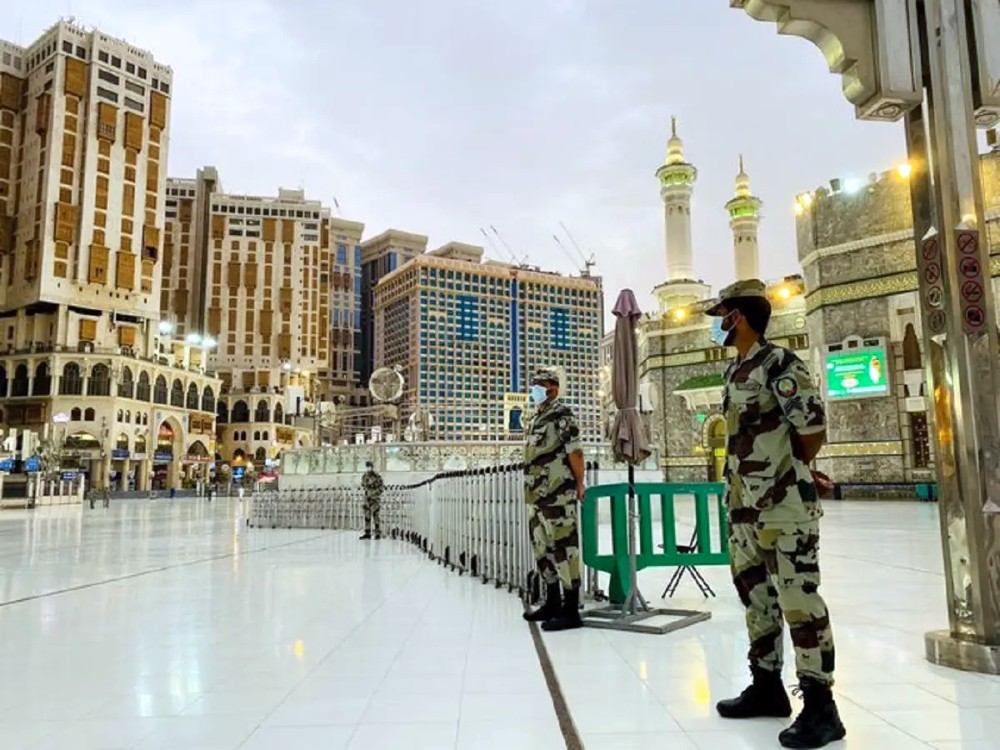 Part of Presidency of Sate Security's participation in this year's Hajj season. (SPA / Twitter)