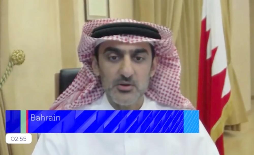 البحرين تشارك في المؤتمر الوزاري الخاص بإطلاق الإعلان العالمي بشأن الاستجابة الرقمية لجائحة (كورونا)
