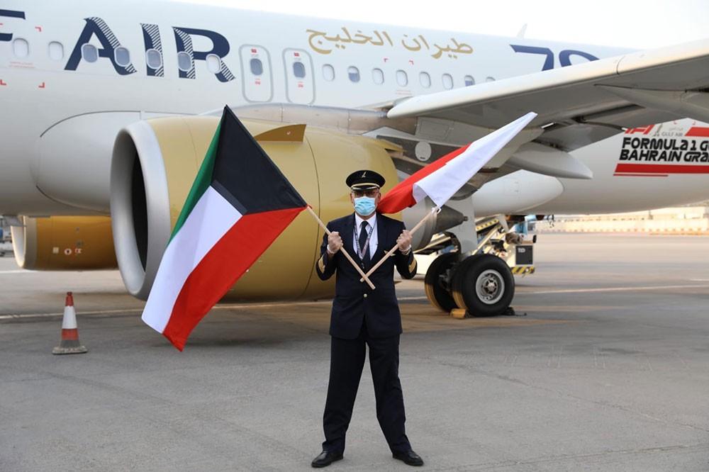 """""""طيران الخليج"""" تعلن استئناف رحلاتها إلى دولة الكويت الشقيقة"""