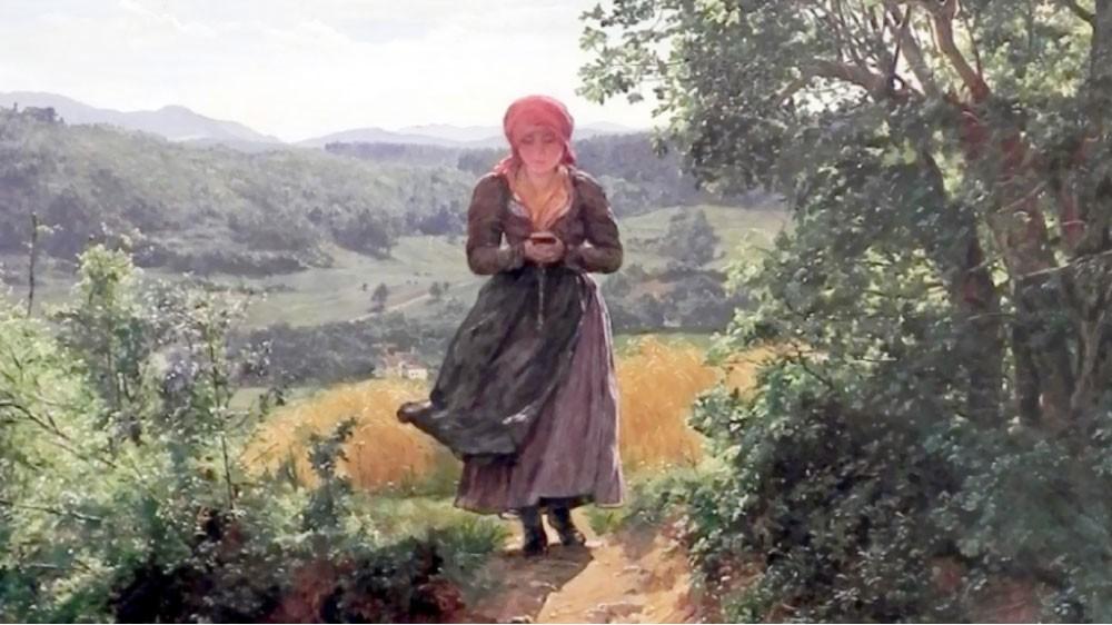 """""""آيفون"""" في لوحة تعود إلى العام 1860"""