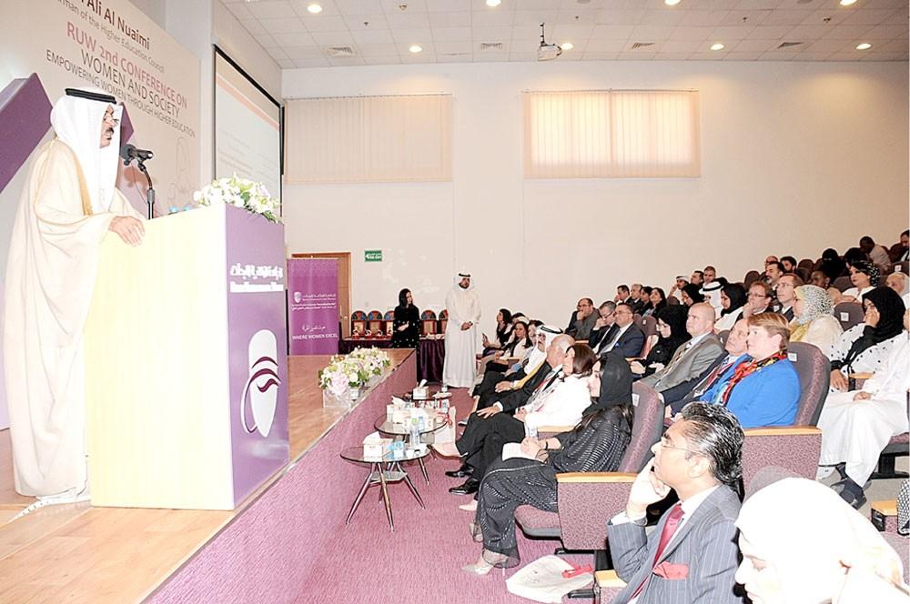 النعيمي: 59 % نسبة الطالبات في مؤسسات التعليم العالي