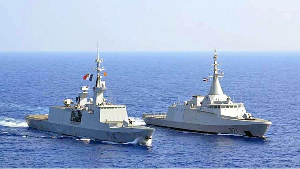 """تدريبات بحرية """"عابرة"""" بين مصر وفرنسا وبريطانيا"""
