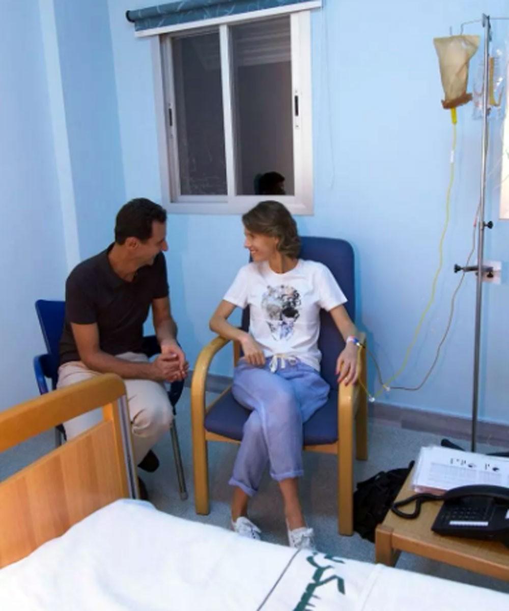 أسماء الأسد مصابة بسرطان الثدي