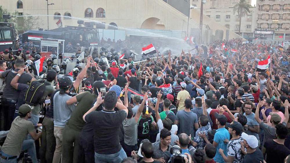 تجدد التظاهرات في بغداد رغم انتهاء الفرز اليدوي