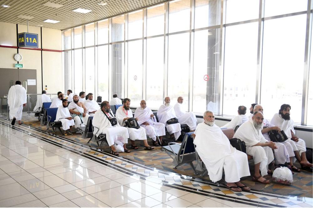 ارتفاع أعداد الحجاج عبر المطار 41 %