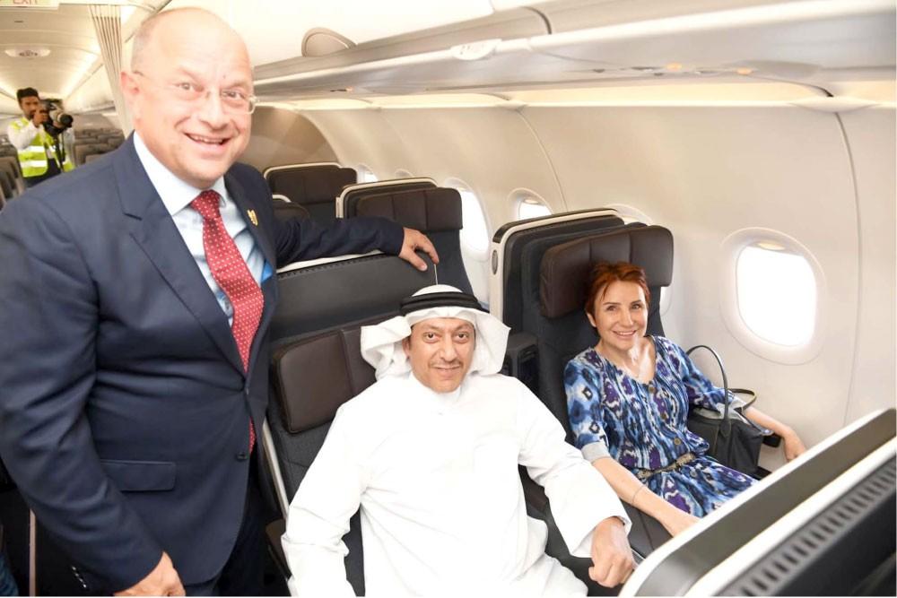"""""""طيران الخليج"""" تستقبل أولى ناقلاتها من طراز إيرباص A320neo"""