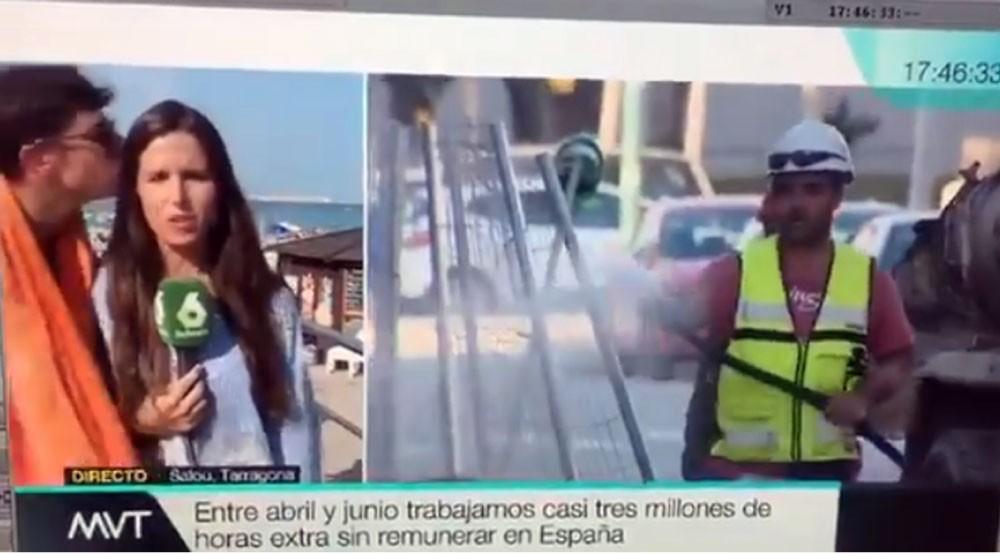 صحافية تتعرض للتحرش على الهواء مباشرة