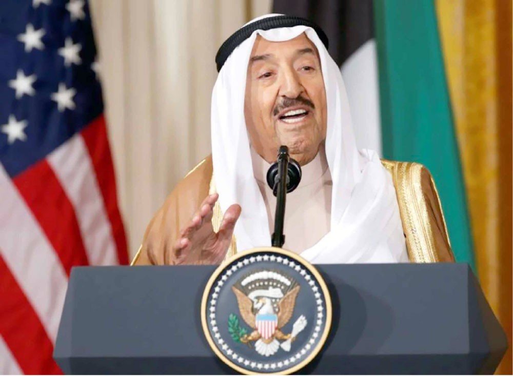أمير الكويت إلى واشنطن للقاء الرئيس الأميركي اليوم