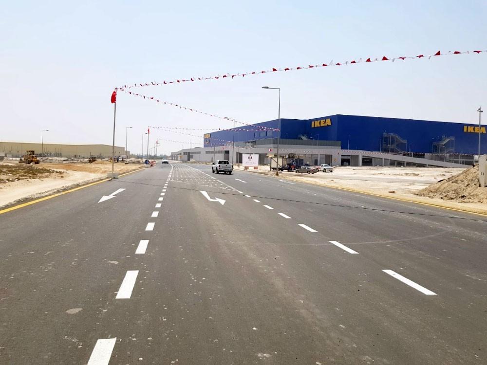 منفذ جديد للمنطقة الصناعية والتجارية بسلماباد