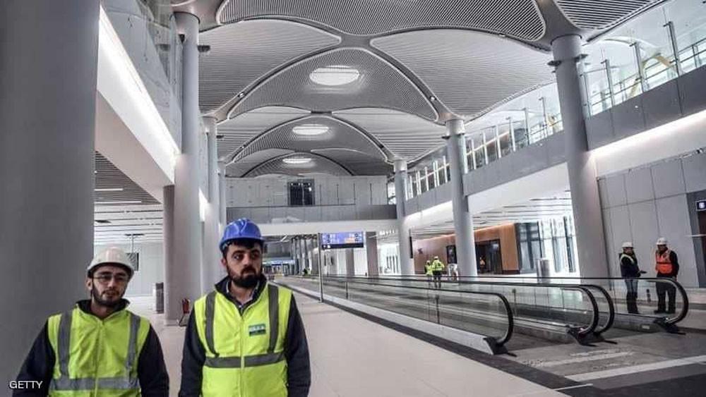إطلاق الغاز على عمال مطار إسطنبول