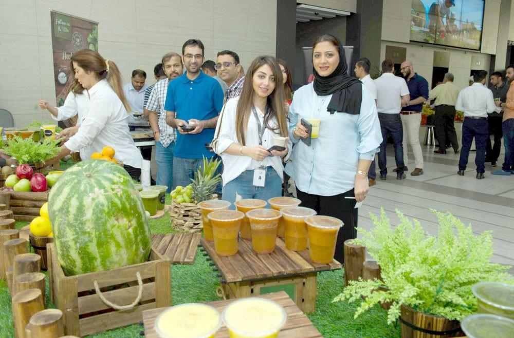 """""""الخليج الدولي"""" ينظم يوم الصحة للموظفين"""