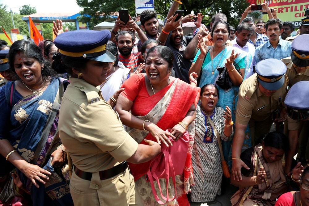 منع النساء من دخول معبد بالهند