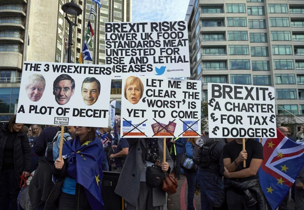 تظاهرات في لندن للمطالبة باستفتاء بشأن بريكست