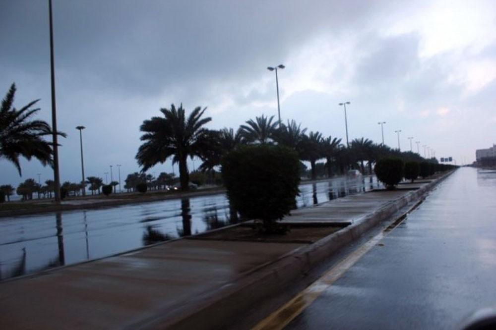 أمطار غزيرة  في ينبع
