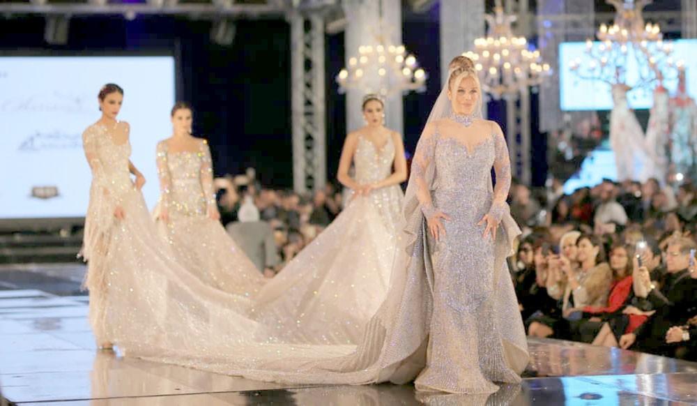 فستان زفاف النجمة نيكول سابا،