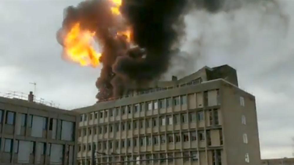 انفجار في جامعة ليون شرق فرنسا