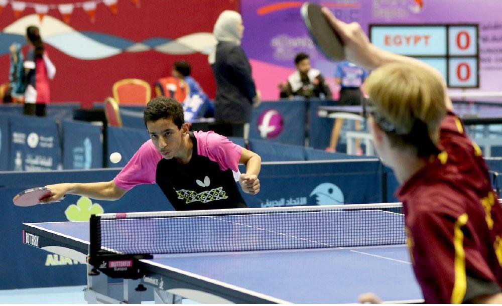 المنافسات تستمر في بطولة البحرين الدولية للطاولة