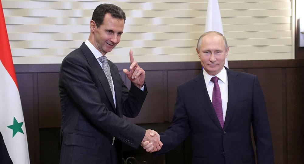 شويغو يسلم الأسد رسالة من بوتين