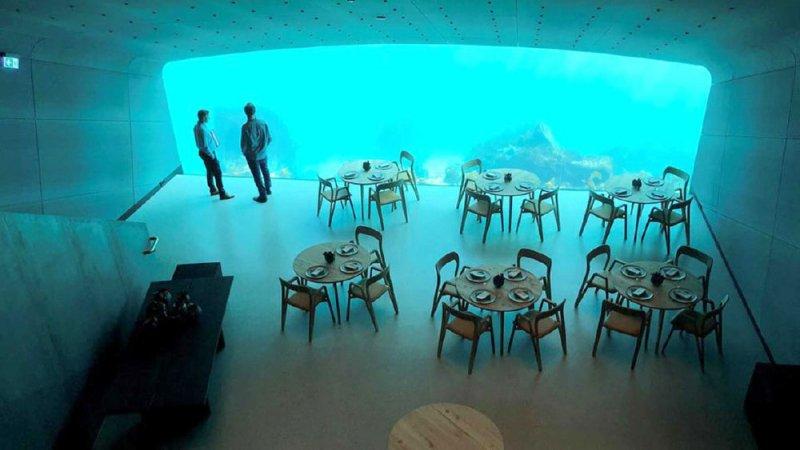 أول مطعم أوروبي تحت الماء في النرويج
