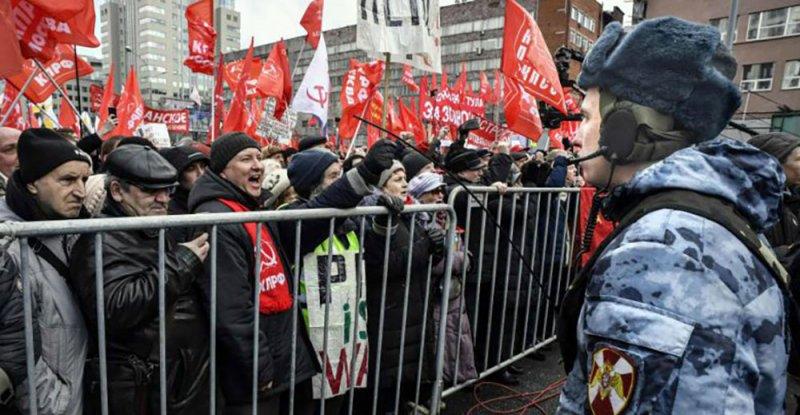 تظاهرات في موسكو احتجاجا على الفساد