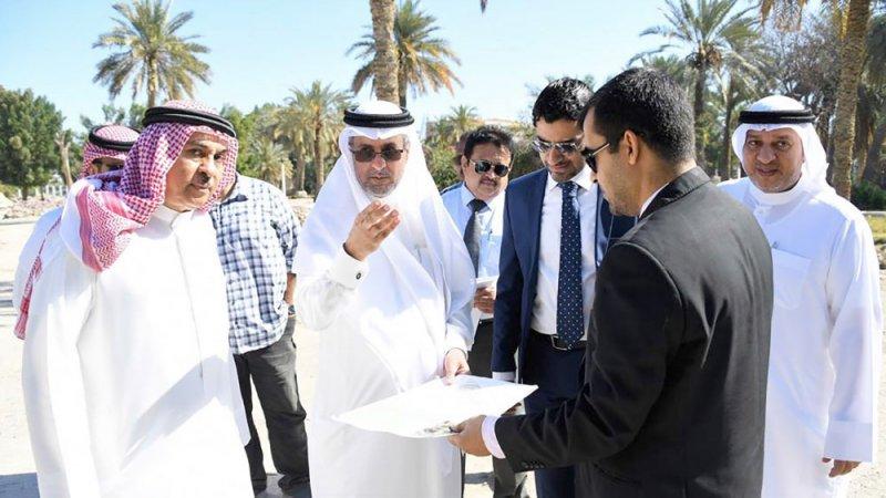 أبو الفتح يتفقد سير العمل بمشروع تطوير الحديقة المائية
