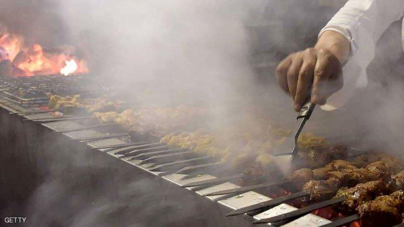 دخان الشواء  لا يقل خطورة  من التدخين