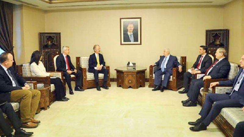 بيدرسن يجري مشاورات في دمشق