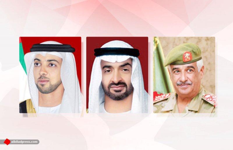 رئيس الحرس الوطني يهنئ محمد بن زايد ومنصور بن زايد