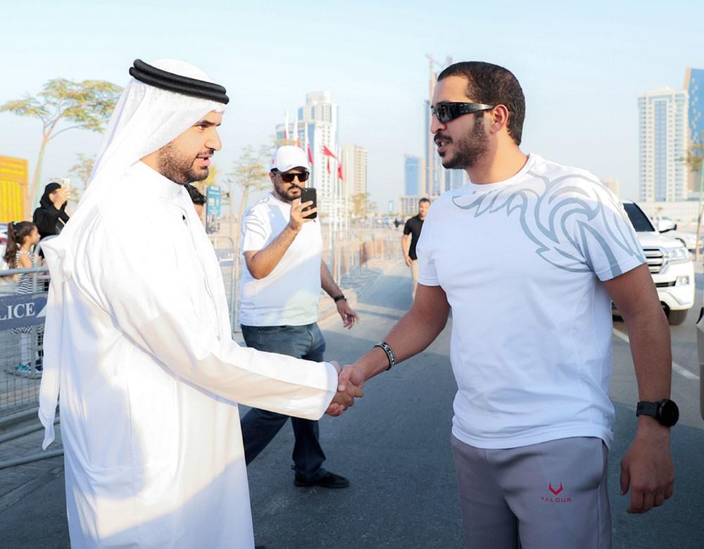 خالد بن حمد يشهد احتفالية اليوم الأولمبي ويشيد بنجاح الفعالية