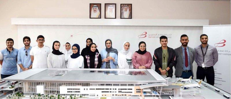 """""""مطار البحرين"""" تنظم جولة تعليمية"""