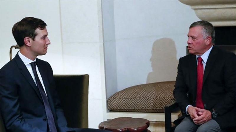كوشنر يبحث عملية السلام مع العاهل الأردني