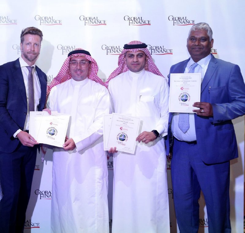 """""""الخليج الدولي"""" يحصد 8 جوائز لجلوبال فاينانس"""