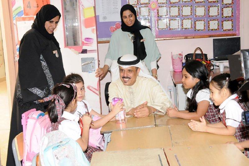 النعيمي يتفقد عددًا من المدارس بمناسبة بدء العام الدراسي