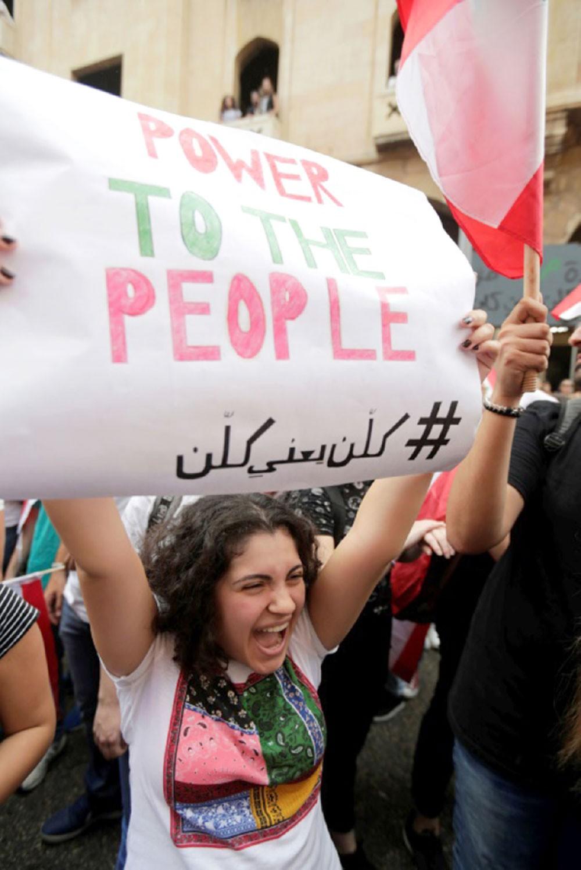 مطالب برحيل كل الطبقة السياسية في لبنان