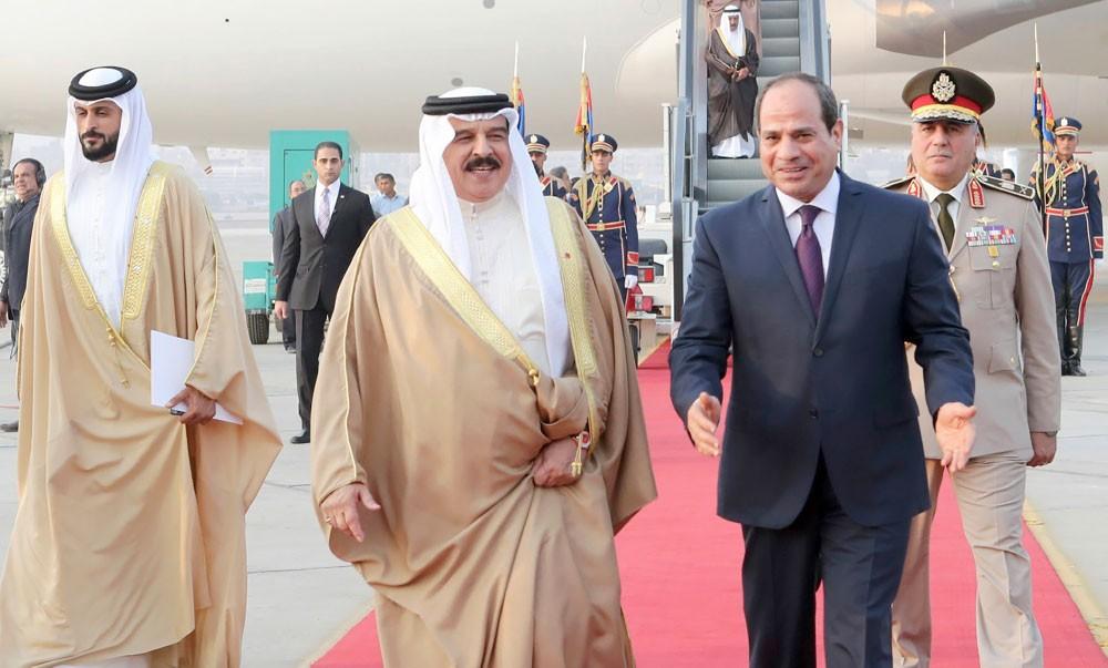 جلالة الملك والسيسي: التصدي لكل ما يهدد وحدة اليمن واستقراره
