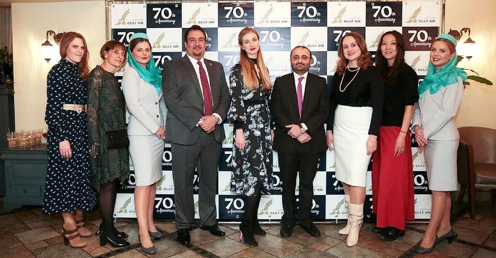 """""""طيران الخليج"""" تحتفل بالذكرى الخامسة لتدشين خطها إلى موسكو"""