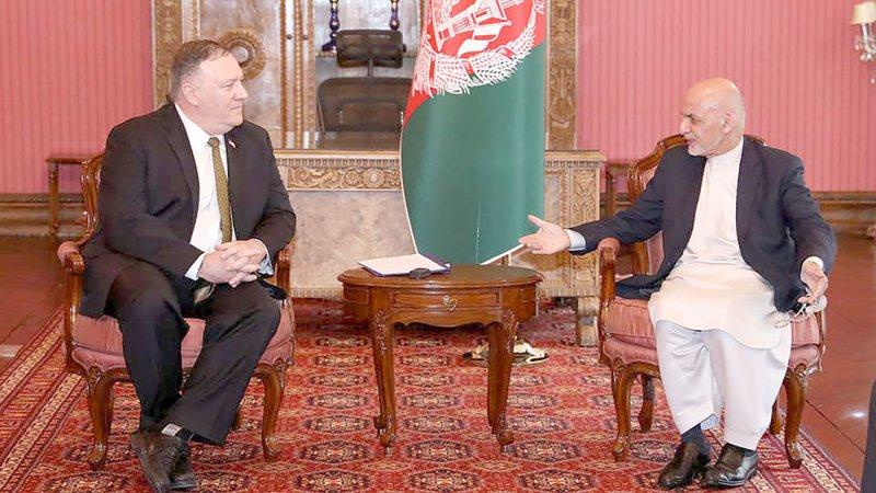 بومبيو في أفغانستان لإطلاق عملية السلام