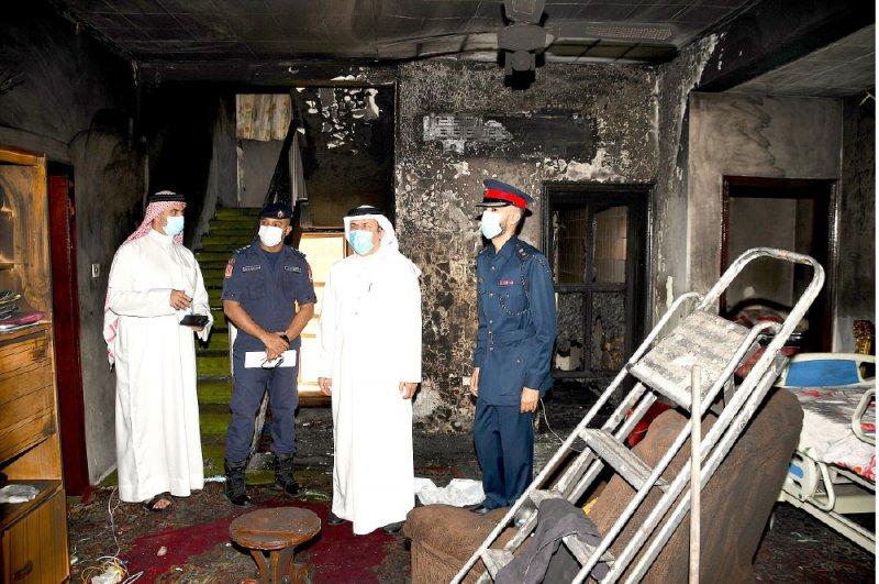 محافظة المحرق تتابع حادث حريق وتقدم خدماتها للمتضررين