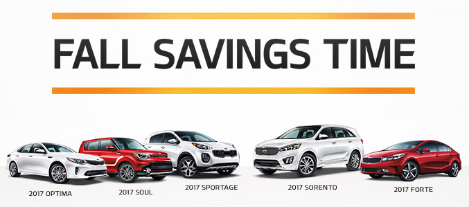 Kia's Fall Savings Time Event