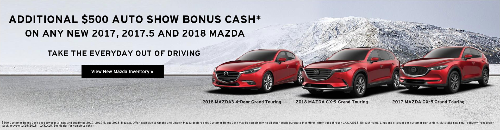 Midlands International Auto Show $500 Customer Bonus Cash