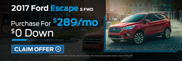 New Ford Escape Specials