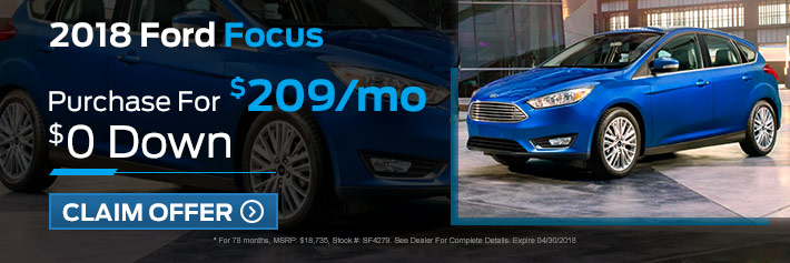 New Ford Focus Specials