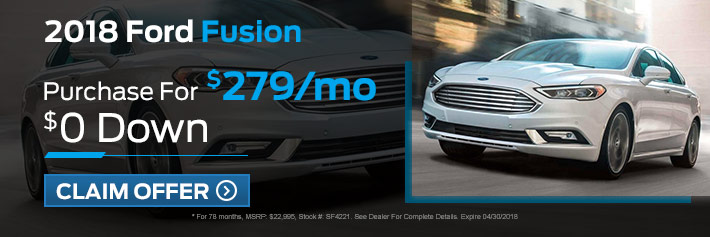 New Ford Fusion Specials