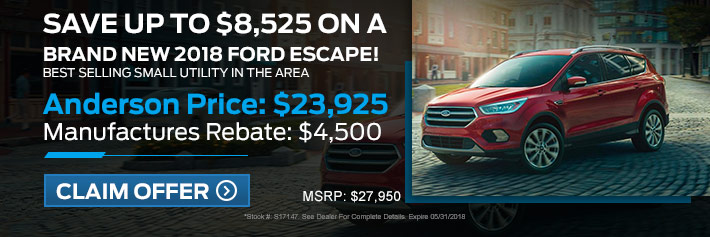 New Ford Escape Specials