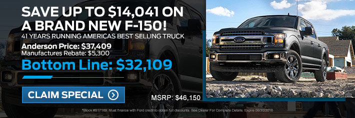 New Ford F-150 Specials