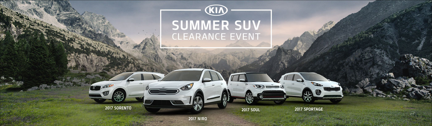 Kia's Summers SUV Clearance Event