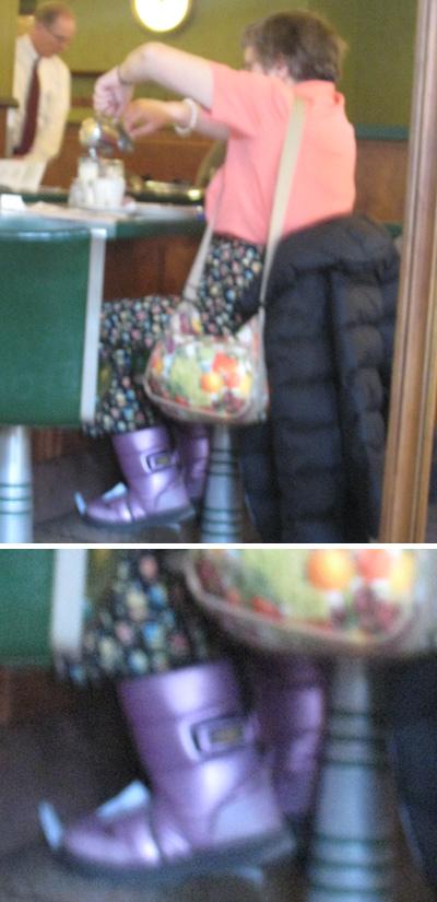 purple moon boots
